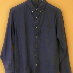 Boys Izod Button Down Collared Shirt XL 18/20 Blue